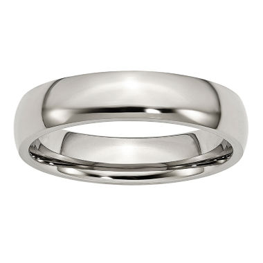 jcpenney.com | Personalized Mens 5mm Stainless Steel Wedding Band