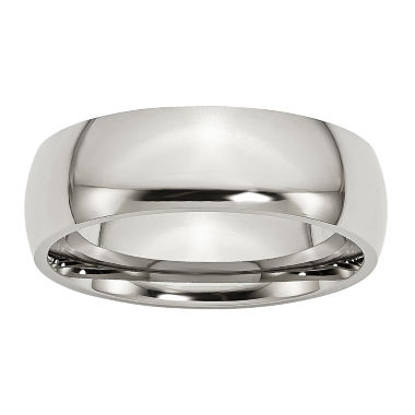 jcpenney.com | Personalized Mens 7mm Stainless Steel Wedding Band