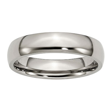 jcpenney.com | Personalized Mens 5mm Titanium Wedding Band