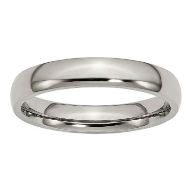 jcpenney.com | Personalized Mens 4mm Titanium Wedding Band