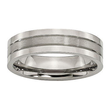 jcpenney.com | Personalized Mens 6mm Titanium Wedding Band