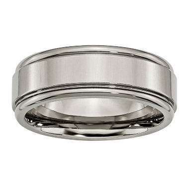 jcpenney.com | Personalized Mens 8mm Titanium Wedding Band