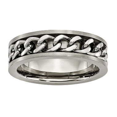 jcpenney.com | Personalized Mens 7mm Titanium Wedding Band