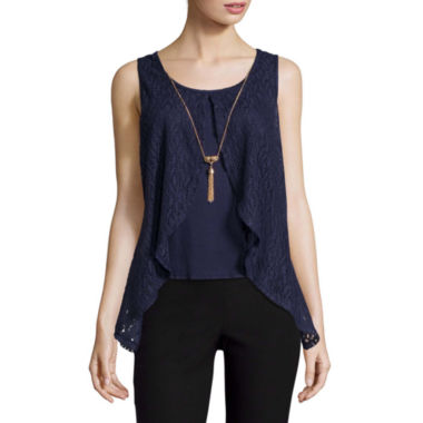 jcpenney.com | by&by Sleeveless Split-Front Top