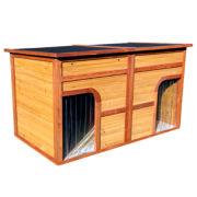 Zoovilla™ Flat Top Duplex Doghouse