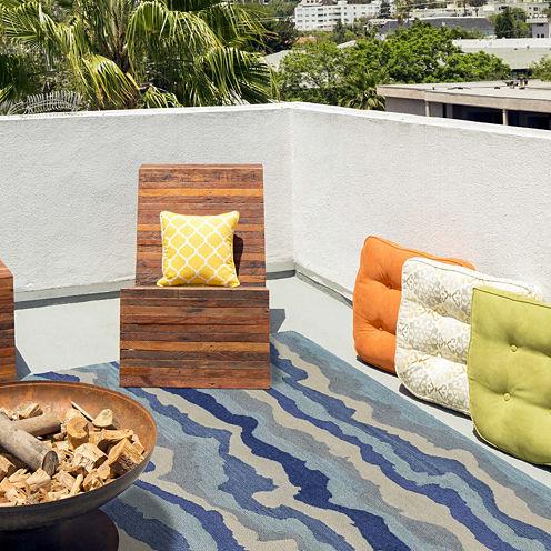 Feizy Rugs® Lonni Waves Indoor/Outdoor Rectangular Rug