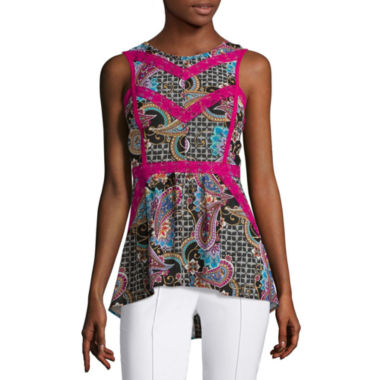 jcpenney.com | nicole by Nicole Miller® Sleeveless Trimmed Top