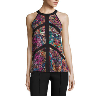 jcpenney.com | nicole by Nicole Miller® Sleeveless Colorblock Top