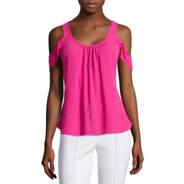 jcpenney.com | nicole by Nicole Miller® Cold-Shoulder Top