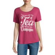 BELLE + SKY™ Short-Sleeve Screen-Printed Tee