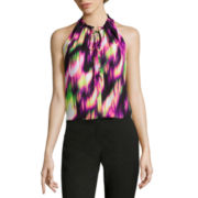 Worthington® Sleeveless Halter Blouse with Tie - Tall