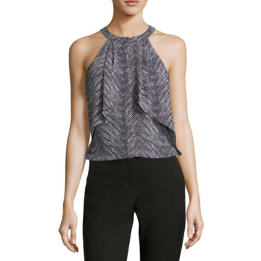 jcpenney.com | Worthington® Sleeveless Ruffle Halter Blouse - Tall