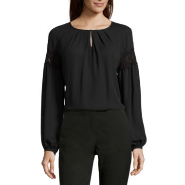 jcpenney.com | Worthington® Long-Sleeve Boho Blouse