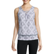 Alyx® Sleeveless Tie-Front Chevron Top