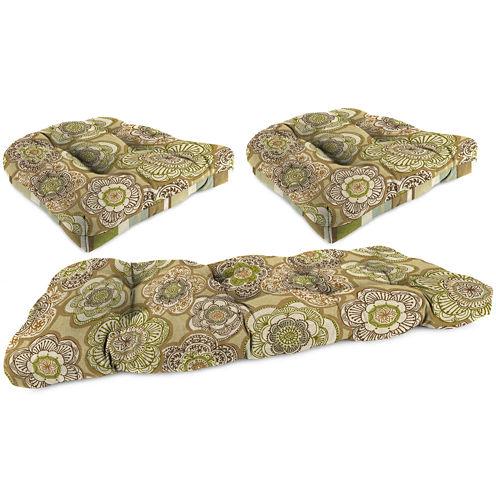 3-pc. Wicker Reversible Cushion Set