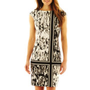 London Style Collection Short-Sleeve Print Dress