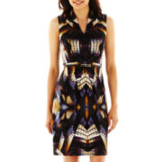 R&K Originals® V-Neck Print Dress - Petite