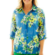 Alfred Dunner® Cool Breeze Floral Layered Shirt