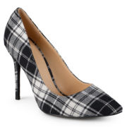 Journee Collection Lorna Plaid Dress Pumps