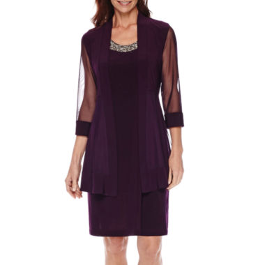 jcpenney.com | RM Sheer-Sleeve Jacket Dress