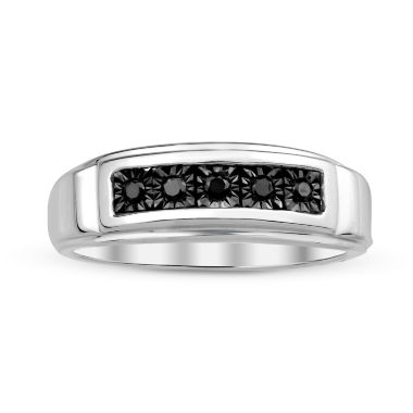 jcpenney.com | Mens Color-Enhanced Black Diamond Accent Sterling Silver Ring
