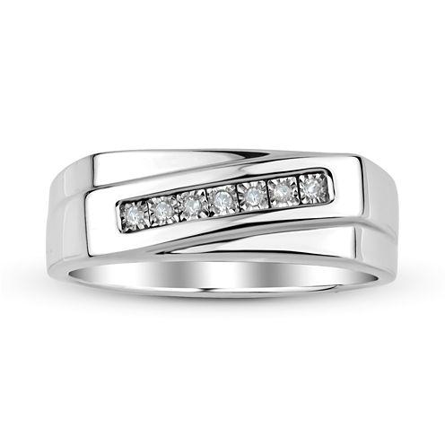 Mens Diamond Accent Sterling Silver Ring