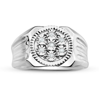 jcpenney.com | Mens 1/10 CT. T.W. Diamond Sterling Silver Ring
