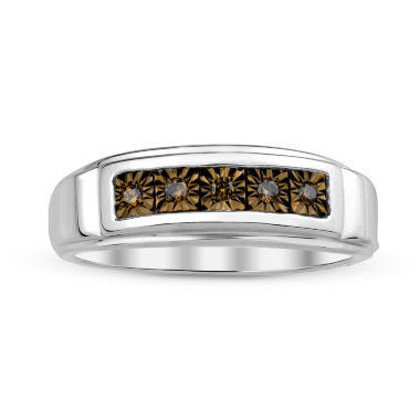 jcpenney.com | Mens Color-Enhanced Champagne Diamond Accent Sterling Silver Ring