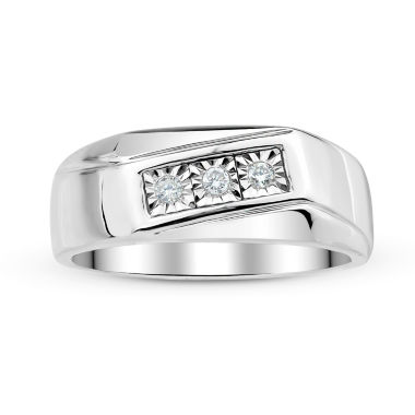 jcpenney.com | Mens 1/8 CT. T.W. Diamond Sterling Silver Ring