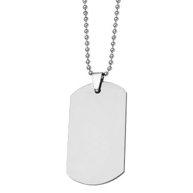 jcpenney.com | Mens Tungsten Carbide Dog Tag Pendant