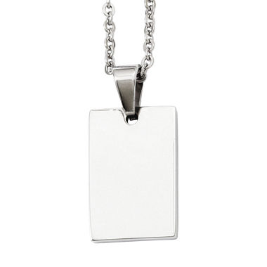 jcpenney.com | Mens Stainless Steel Dog Tag Pendant Necklace