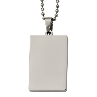 jcpenney.com | Mens Stainless Steel Dog Tag Pendant