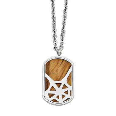 jcpenney.com | Mens Tigers Eye Stainless Steel Dog Tag Pendant