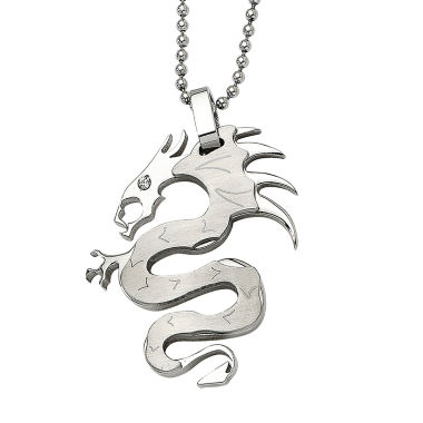 jcpenney.com | Mens Stainless Steel Dragon Pendant