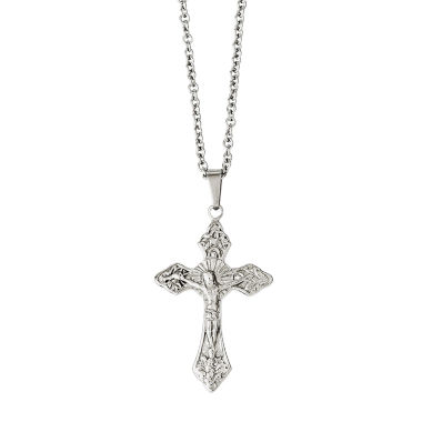 jcpenney.com | Mens Stainless Steel Crucifix Pendant