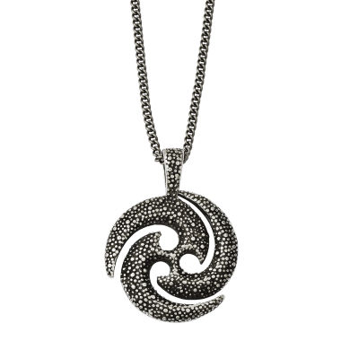 jcpenney.com | Mens Stainless Steel Antiqued & Textured Circle Pendant