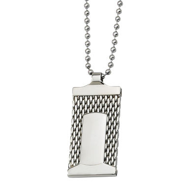jcpenney.com | Mens Stainless Steel Mesh Dog Tag Pendant