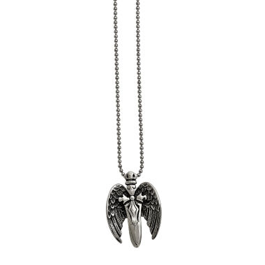 jcpenney.com | Mens Stainless Steel Antiqued Winged Sword Pendant