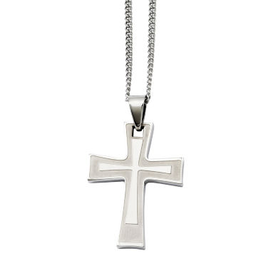 jcpenney.com | Mens Stainless Steel Cross Pendant