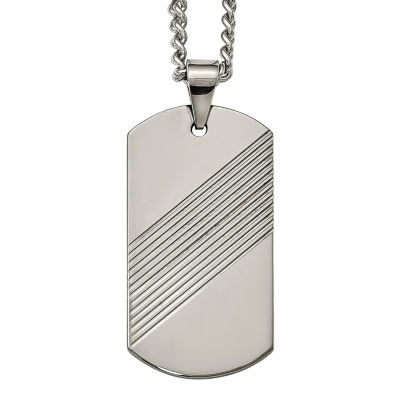 Mens tungsten carbide dog tag pendant jcpenney mens tungsten carbide dog tag pendant aloadofball
