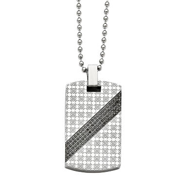 jcpenney.com | Mens 1/2 CT. T.W. Diamond Stainless Steel Dog Tag Pendant