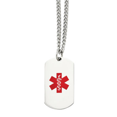 jcpenney.com | Mens Stainless Steel Medical Dog Tag Pendant