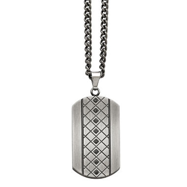 jcpenney.com | Mens Cubic Zirconia Stainless Steel Pendant