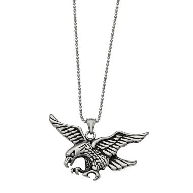 jcpenney.com | Mens Stainless Steel Antiqued Eagle Pendant