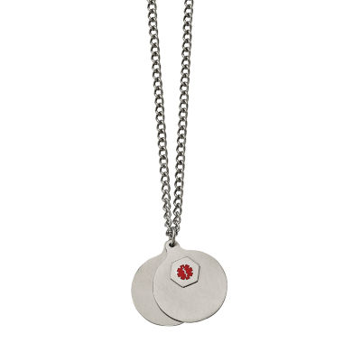 jcpenney.com | Mens Stainless Steel 2 Piece Medical Pendant