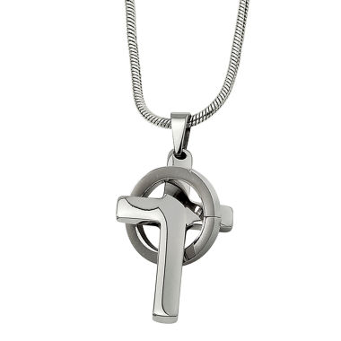 jcpenney.com | Mens Stainless Steel Cross In Circle Pendant