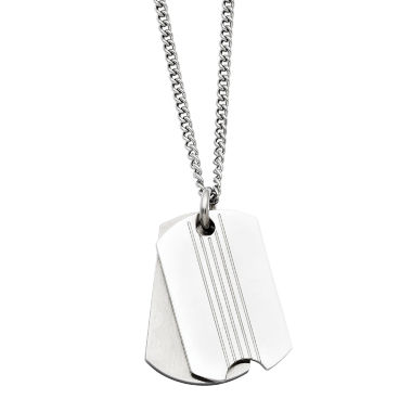 jcpenney.com | Mens Stainless Steel Two Piece Dog Tag Pendant