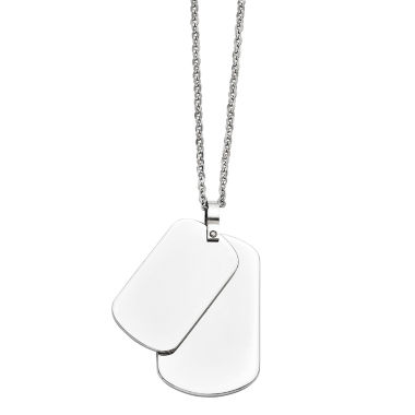 jcpenney.com | Mens Stainless Steel Double Dog Tag Pendant