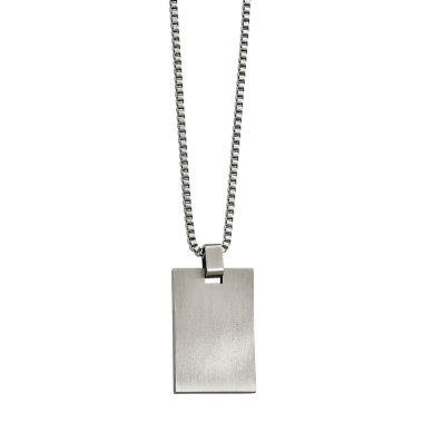 jcpenney.com | Mens Stainless Steel Rectangle Pendant