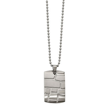 jcpenney.com | Mens Stainless Steel Patterned Dog Tag Pendant